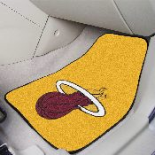 NBA - Miami Heat 2-piece Carpeted Car Mats 17x27 - Green