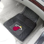NBA - Miami Heat Heavy Duty 2-Piece Vinyl Car Mats 17x27