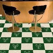 NBA - Milwaukee Bucks Carpet Tiles 18x18 tiles