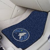 NBA - Minnesota Timberwolves 2-piece Carpeted Car Mats 17x27