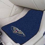 NBA - New Orleans Pelicans 2-piece Carpeted Car Mats 17x27