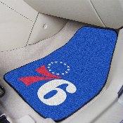 NBA - Philadelphia 76ers 2-piece Carpeted Car Mats 17x27