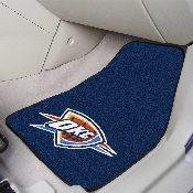 NBA - Oklahoma City Thunder 2-piece Carpeted Car Mats 17x27