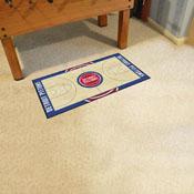 NBA - Detroit Pistons NBA Court Runner 24x44