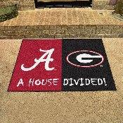 Alabama - Georgia House Divided Rug 33.75x42.5