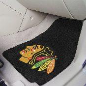 NHL - Chicago Blackhawks 2-pc Printed Carpet Car Mats 17x27