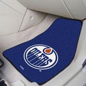 NHL - Edmonton Oilers 2-pc Printed Carpet Car Mats 17x27