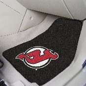 NHL - New Jersey Devils 2-pc Printed Carpet Car Mats 17x27