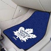 NHL - Toronto Maple Leafs 2-pc Printed Carpet Car Mats 17x27