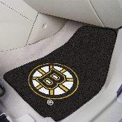 NHL - Boston Bruins 2-pc Printed Carpet Car Mats 17x27