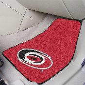 NHL - Carolina Hurricanes 2-pc Printed Carpet Car Mats 17x27