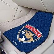 NHL - Florida Panthers 2-pc Printed Carpet Car Mats 17x27