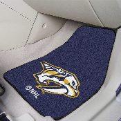 NFL Nashville Predators 2-pc Printed Carpet Car Mats 17x27