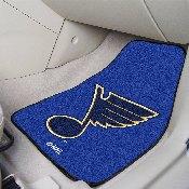 NHL - St. Louis Blues 2-pc Printed Carpet Car Mats 17x27