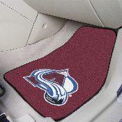 NHL - Colorado Avalanche 2-pc Printed Carpet Car Mats 17x27