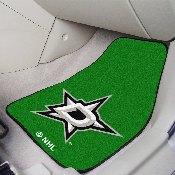 NHL - Dallas Stars 2-pc Printed Carpet Car Mats 17x27