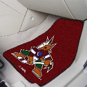 NHL - Arizona Coyotes 2-pc Printed Carpet Car Mats 17x27