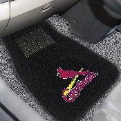 MLB - St. Louis Cardinals 2-piece Embroidered Car Mats 18x27