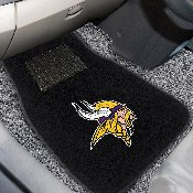 NFL - Minnesota Vikings 2-piece Embroidered Car Mats 18x27