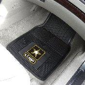 Army Heavy Duty 2-Piece Vinyl Car Mats 17x27