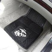 Marines Heavy Duty 2-Piece Vinyl Car Mats 17