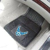 Air Force Heavy Duty 2-Piece Vinyl Car Mats 17x27