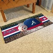 MLB - Atlanta Braves Baseball Runner 30x72