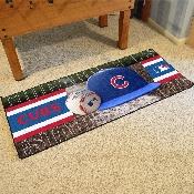 MLB - Chicago Cubs Baseball Runner 30x72