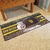 MLB - San Diego Padres Baseball Runner 30x72