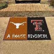 Texas-Texas Tech House Divided Rugs 33.75x42.5
