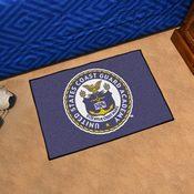USCG Academy Purple Background Starter Rug 19x30