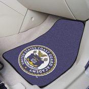 USCG Academy2-pc Printed Carpet Car Mats 17x27
