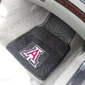 Arizona Wildcats Heavy Duty 2-Piece Vinyl Car Mats 17x27
