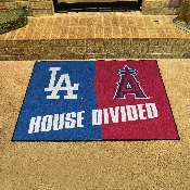 MLB - Los Angeles Dodgers - Anaheim Angels House Divided Rugs 33.75x42.5