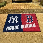 MLB - New York Yankees - MLB - Boston Red Sox House Divided Rugs 33.75x42.5