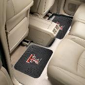 Texas Tech Backseat Utility Mats 2 Pack 14x17