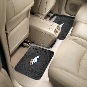 NFL - Denver Broncos Backseat Utility Mats 2 Pack 14x17