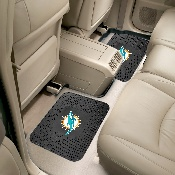 NFL - Miami Dolphins Backseat Utility Mats 2 Pack 14x17