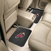NFL - Arizona Cardinals Backseat Utility Mats 2 Pack 14x17