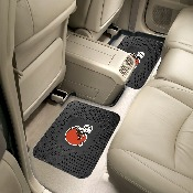 NFL - Cleveland Browns Backseat Utility Mats 2 Pack 14x17