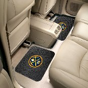 NBA - Denver Nuggets Backseat Utility Mats 2 Pack 14x17