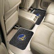 NBA - Golden State Warriors Backseat Utility Mats 2 Pack 14x17
