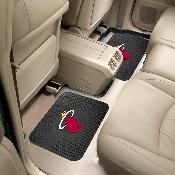 NBA - Miami Heat Backseat Utility Mats 2 Pack 14x17