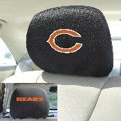 NFL - Chicago Bears Head Rest Cover 10Inchx13Inch - 2 Pcs Per Set