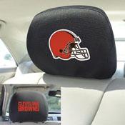 NFL - Cleveland Browns Head Rest Cover 10Inchx13Inch - 2 Pcs Per Set