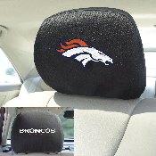 NFL - Denver Broncos Head Rest Cover 10Inchx13Inch - 2 Pcs Per Set