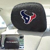 NFL - Houston Texans Head Rest Cover 10Inchx13Inch - 2 Pcs Per Set