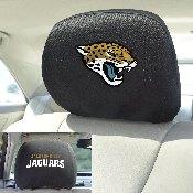 NFL - Jacksonville Jaguars Head Rest Cover 10Inchx13Inch - 2 Pcs Per Set
