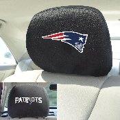 NFL - New England Patriots Head Rest Cover 10Inchx13Inch - 2 Pcs Per Set
