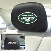 NFL - New York Jets Head Rest Cover 10Inchx13Inch - 2 Pcs Per Set